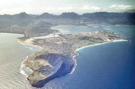 Kaneohe Bay test site (image courtesy University of Hawaii)